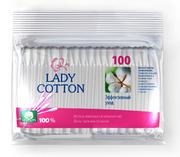 Lady Cotton Палочки ватные в полиетиленовом пакете 100шт,