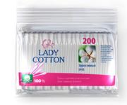 Lady Cotton Палочки ватные в полиетиленовом пакете 200шт