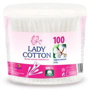 Lady Cotton Палочки ватные в банке 100шт,
